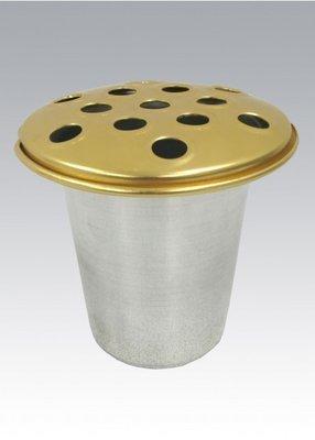 Gold/Silver Metal Flower Pot