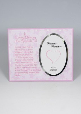 In Loving Memory of a Special Girl photo frame