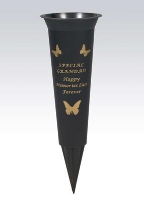 Special Grandad Plastic Spike Memorial Vase