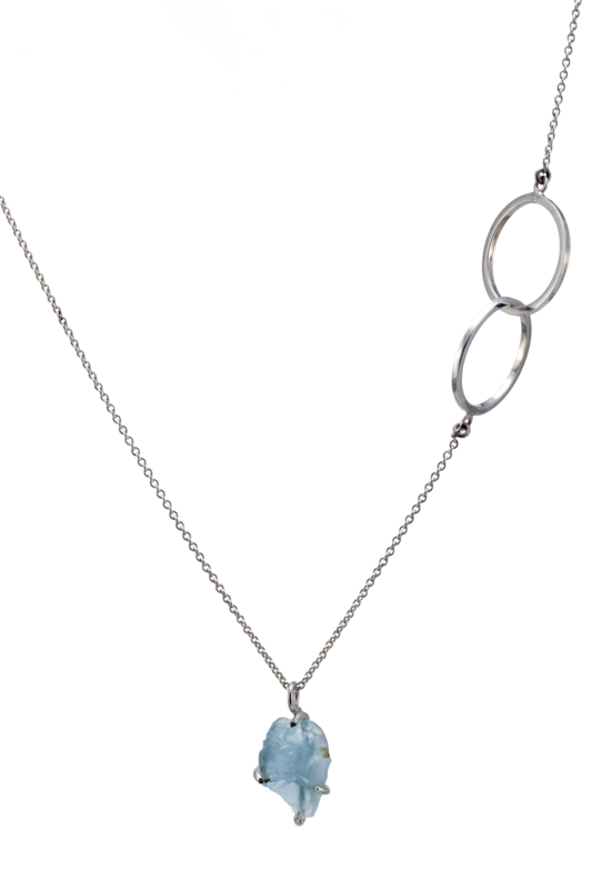 G-Candy Necklace with Aquamarine Charm
