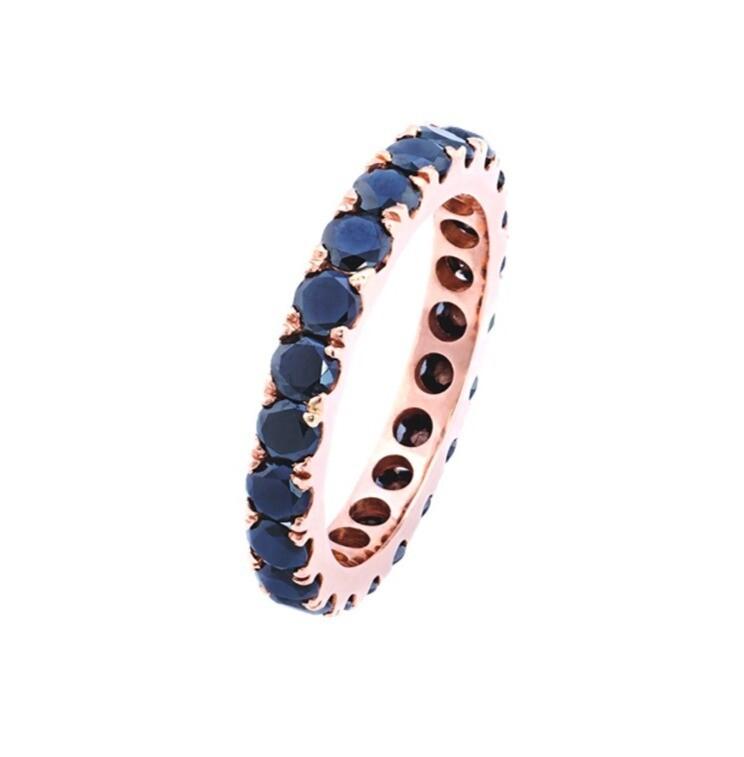 Eternity Ring with Black Diamonds