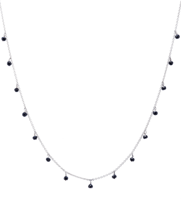 Galaxy Necklace with Black Spinel