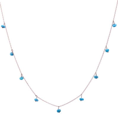 Galaxy Necklace with Turquoise