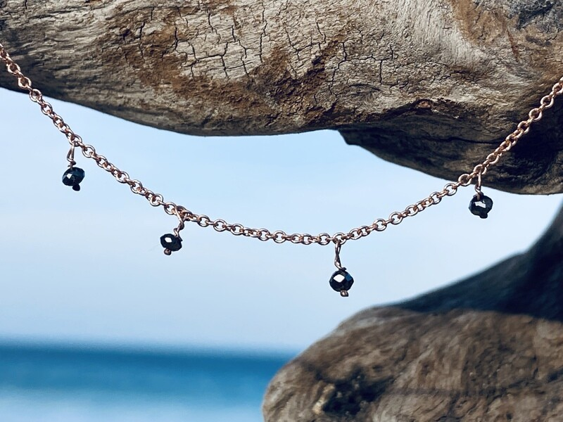 Galaxy Necklace with Black Diamonds