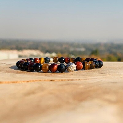 Dry Riverbed Wristband with Tigers Eye