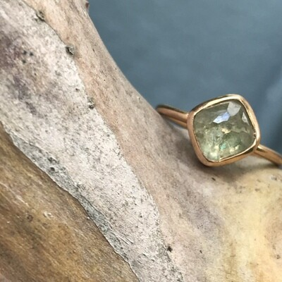 Pale Yellow Diamond Ring