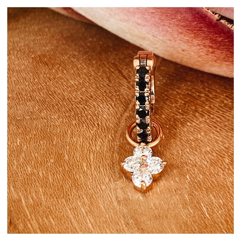 Lucky Clover Leaf Diamond Charm