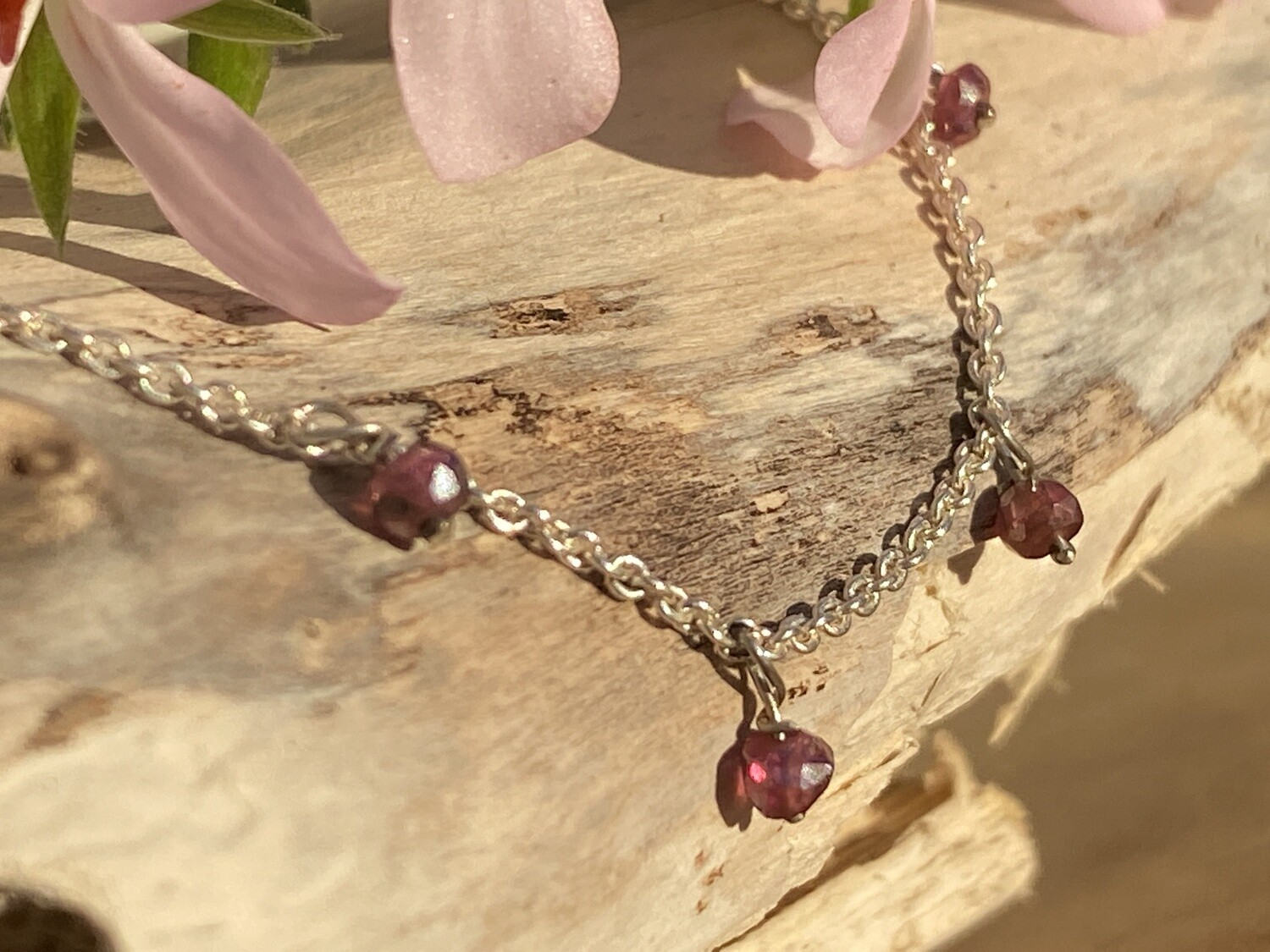 Galaxy Necklace with Pink Spinel