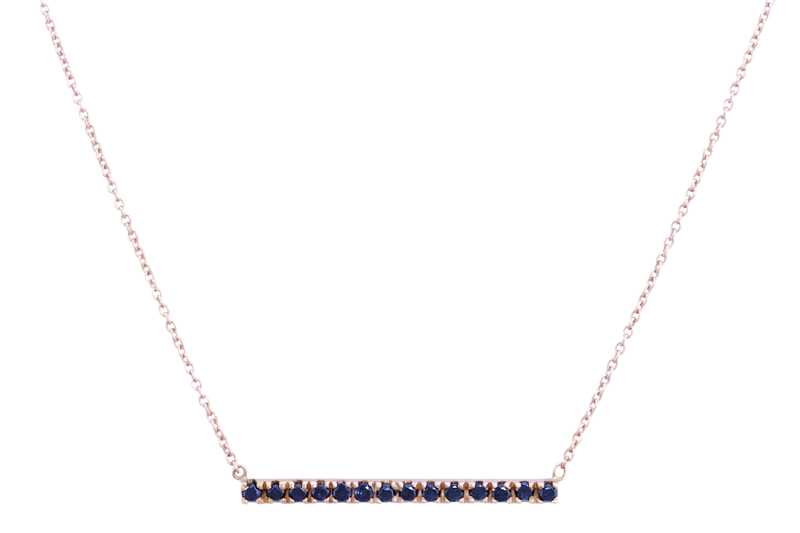 Horizon Necklace with Black Diamonds