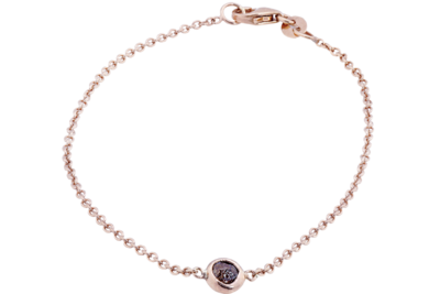 Semi- faceted Raw Diamond Bracelet