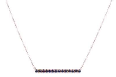 Horizon Necklace with Black Diamonds