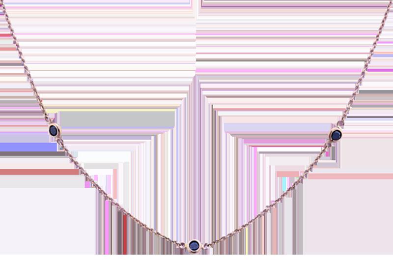Dash Necklace with Black Diamonds
