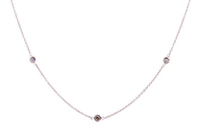 Dash Necklace with Champagne Diamonds