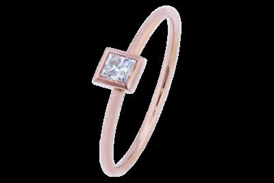 Princess Cut Diamond Stack Ring