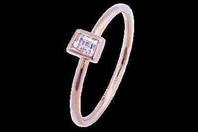 Emerald Cut Diamond Stack Ring