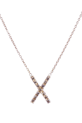 Champagne Diamond X Necklace