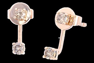 Nav Jacket Stud with Champagne Diamonds
