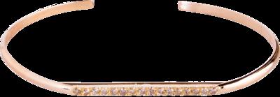 Champagne Diamond Horizon Cuff