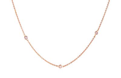 Dash Necklace with White Diamonds