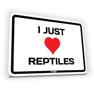 I Just Love Reptiles - Small (translucent)