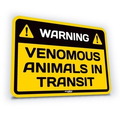 Venomous Animals in Transit - Small (translucent)