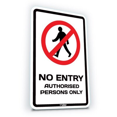 No Entry - Authorised Persons Only - Large (translucent)