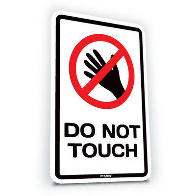 Do Not Touch - Small  (translucent)