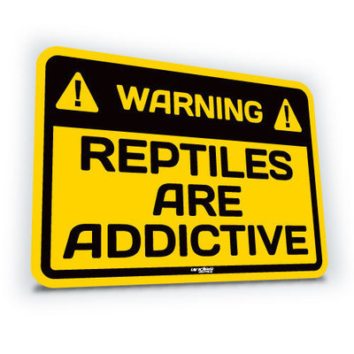 Reptiles Are Addictive - Small (translucent)