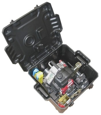 Transport case with molded shapes