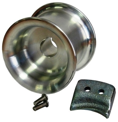 Capstan drum 85mm  w/rope guide and 2 bolts
