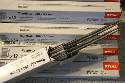 12 Stihl Round Files 200 x 5.2MM (13/64