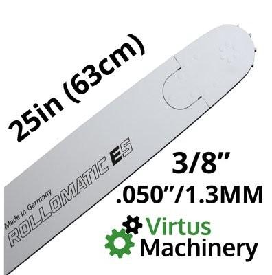 "25""/63cm 3/8"" (.050""/1.3mm)"
