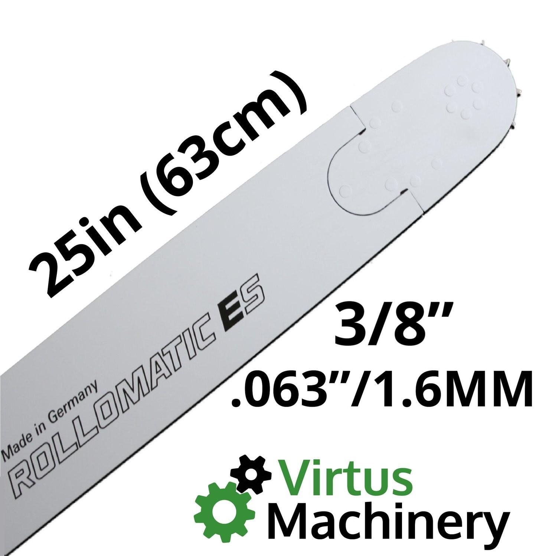 "25""/63cm 3/8"" (.063""/1.6mm)"