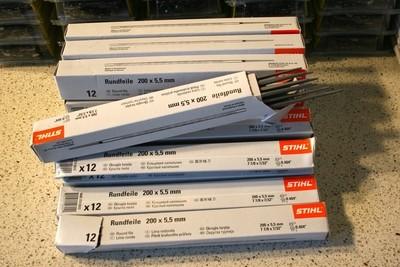 12 Stihl Round Files 200 x 5.5MM (7/32