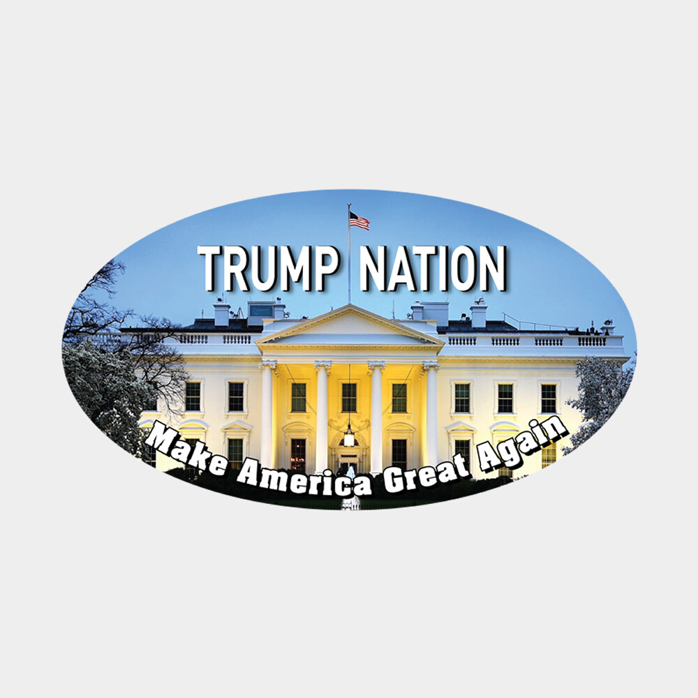 "Trump Nation White House 3"" x 5"" Oval Sticker"
