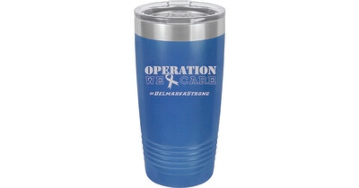 Polar Camel Coral Ringneck Vacuum Insulated Tumbler w/Lid & Silver Ring