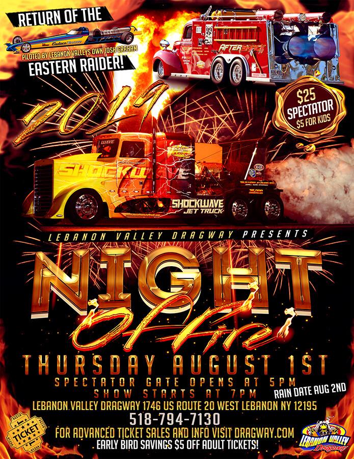 NIGHT OF FIRE PRE-SALE SAVINGS!