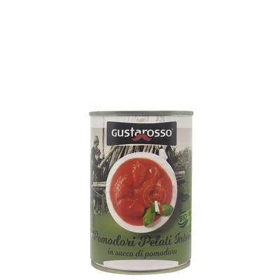 Pomodori pelati biologici 400 gr netti, confezione da 36 latte - spedizione gratuita  in italia