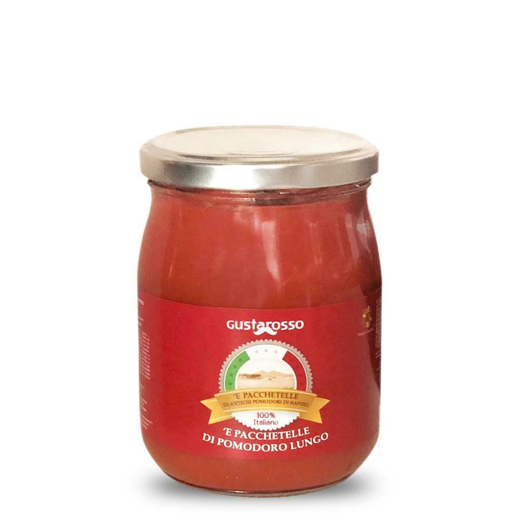 'E Pacchetelle di Antichi Pomodori di Napoli Presidio Slow Food - vetro 520gr netti, 12pz
