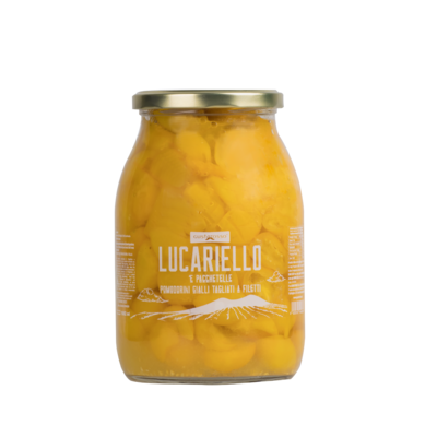 Lucariello a Pacchetelle, pomodoro giallo vaso da 1Kg conf. 6pz