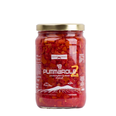 'e Pummarole 2 - Pomodori tagliati a quadratini al naturale - 2 vasi da 1kg cad.