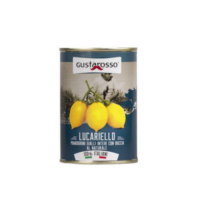 Lucariello Pomodorino Giallo al Naturale - latta da 400gr 12pz
