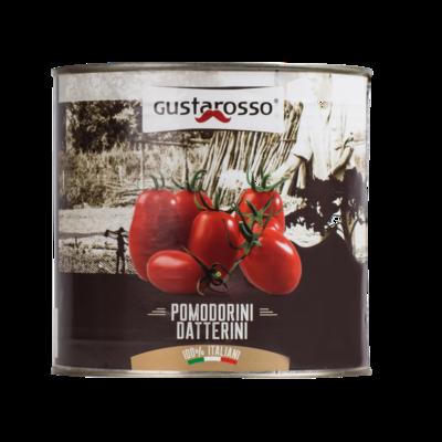 Pomodori datterini Gustarosso - latta da 2,5kg 6pz