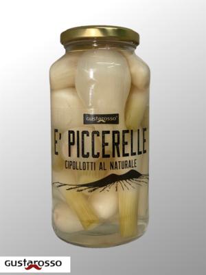 E' Piccerelle Cipollotti al naturale g 700 x 3 vasi vetro - spedizione inclusa