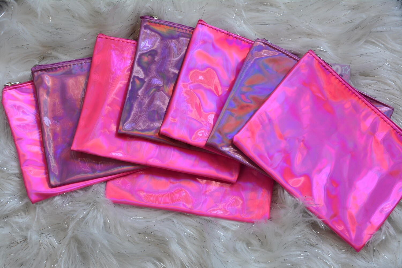 Iridescent Pink Cosmetic Bag