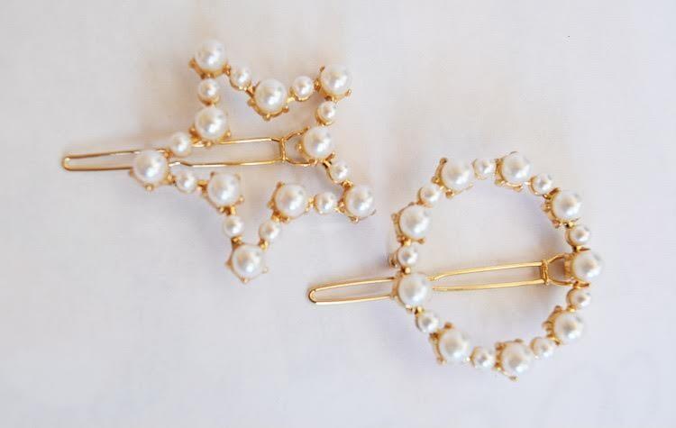Gold/Pearl Hair Clip