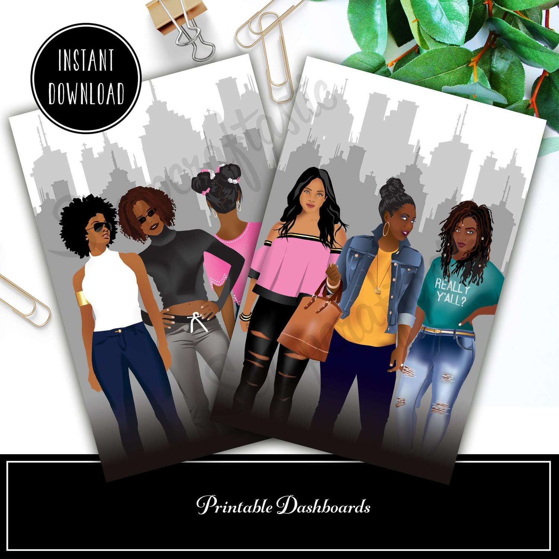 MINI DISC - Planner Queens Set 1 Printable / Digital Download Dashboard