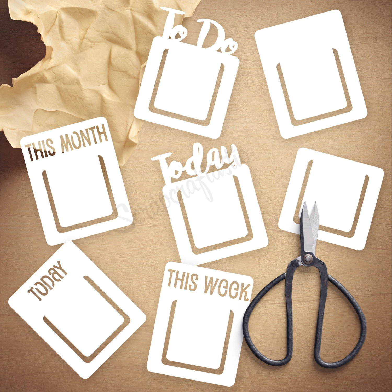 Page Markers Die Cut Template and Cut Files   Digital Download