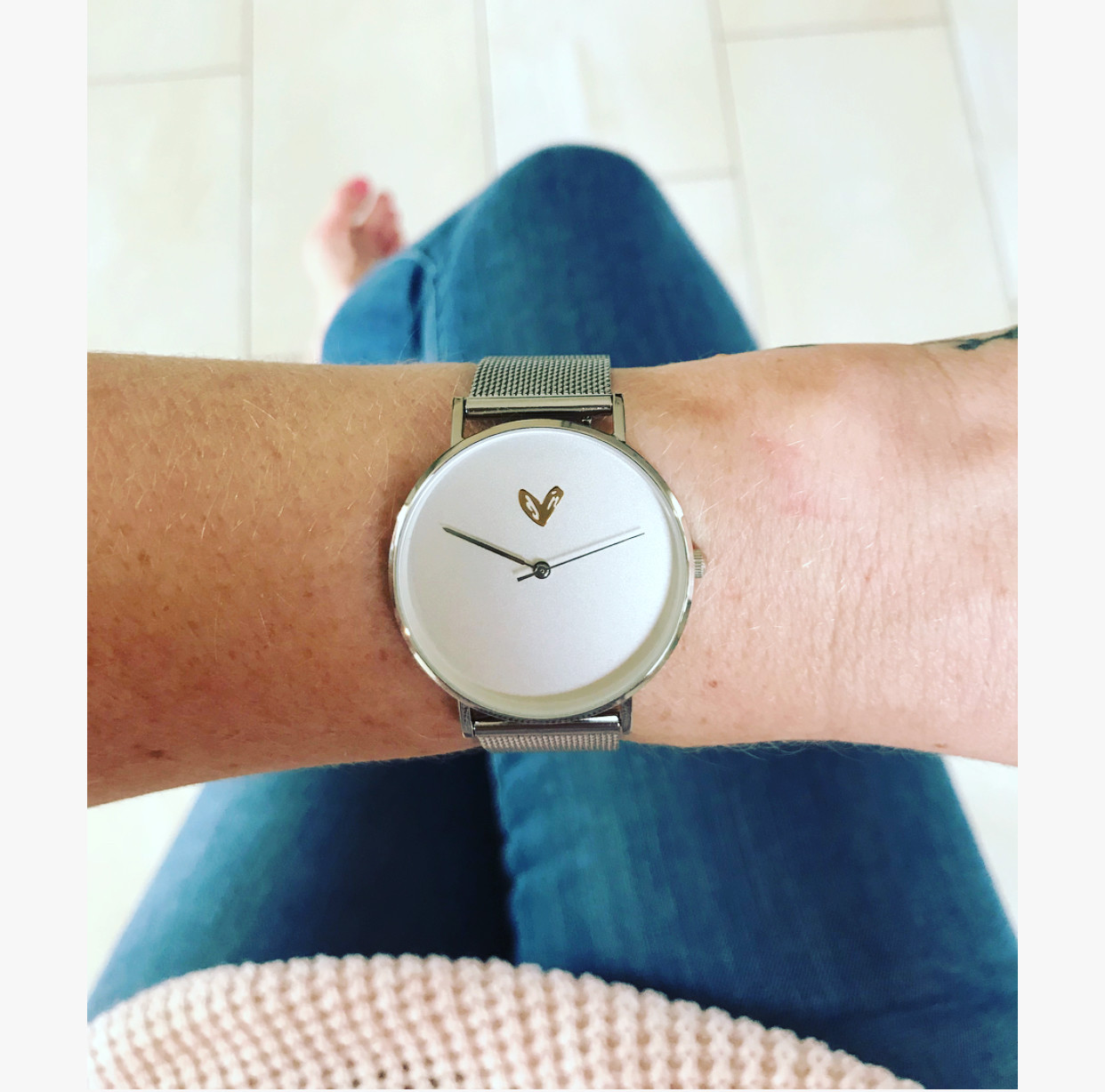 Simple silver watches