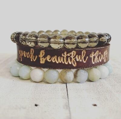 speak beautiful things
